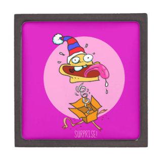 Caja De Regalo dibujo animado divertido del payaso de la sorpresa