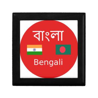Caja De Regalo Diseño bengalí de la lengua