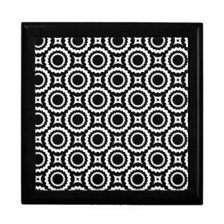 Caja De Regalo Diseño blanco negro lindo de los círculos del