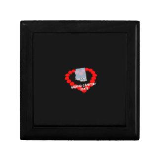 Caja De Regalo Diseño del corazón de la vela para el estado de