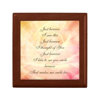 Caja De Regalo Diseño elegante del poema del país del estilo del