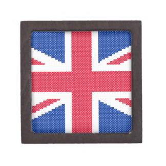 Caja De Regalo Diseño original Union Jack del punto de cruz