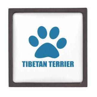 CAJA DE REGALO DISEÑOS DEL PERRO DE TERRIER TIBETANO
