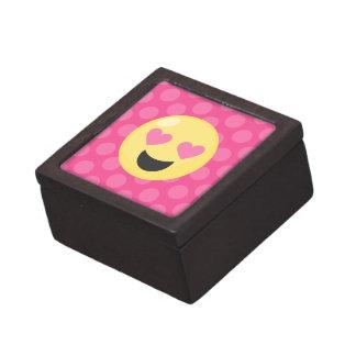 Caja De Regalo El corazón observa los lunares de Emoji
