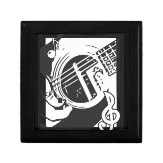 Caja De Regalo El jugar de la guitarra del amante de la música