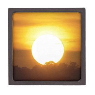 Caja De Regalo el kground añade la puesta del sol CONOCIDA de la