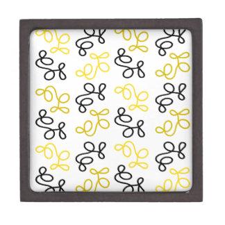 Caja De Regalo Elegancia amarilla