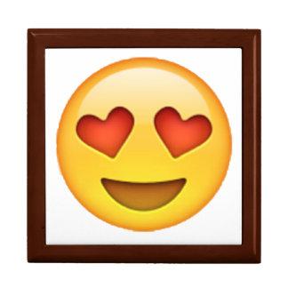 Caja De Regalo Emoji - ojos en forma de corazón