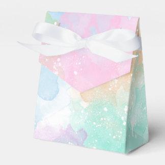 Caja de regalo en colores pastel de la tienda de