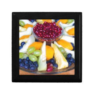 Caja De Regalo Escala de cristal por completo de diversas frutas