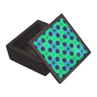 Caja De Regalo Extracto geométrico azul púrpura verde