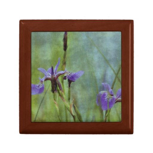 Caja de regalo floral de la teja del arte impresio