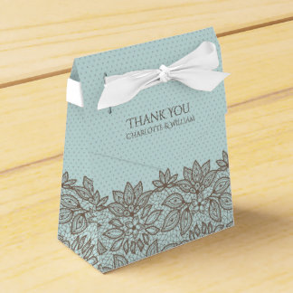 Caja de regalo floral del favor del cordón y de