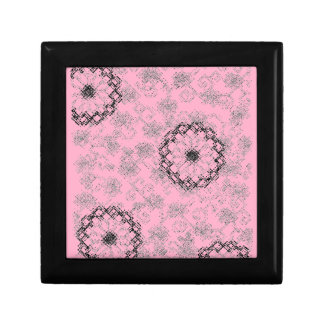 Caja de regalo floral rosada del top de la baldosa