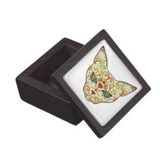 Caja De Regalo Gato del cráneo del azúcar - diseño del tatuaje