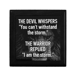Caja De Regalo Guerrero - soy la tormenta - bestia del león de