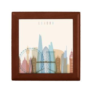 Caja De Regalo Horizonte de la ciudad de Londres, Inglaterra el |