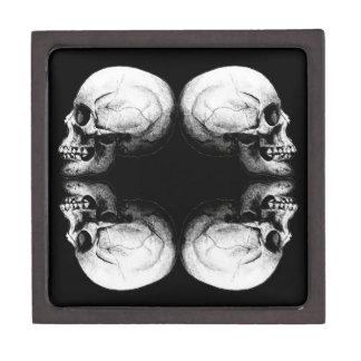 Caja De Regalo Huesos protectores blancos y negros del cráneo X4