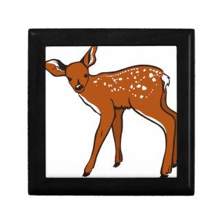 Caja De Regalo Ilustracion de un ciervo