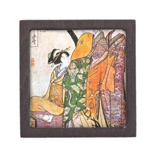 Caja De Regalo Ilustraciones japonesas del geisha del vintage