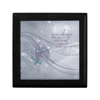 Caja De Regalo La cinta del corazón de la aguamarina, diploma,