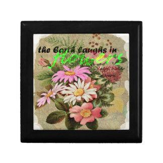 Caja De Regalo La tierra ríe en flores