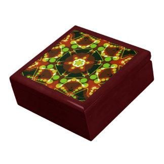 Caja de regalo laqueada estrella geométrica de los