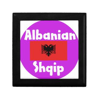Caja De Regalo Lengua de Albania y diseño de la bandera