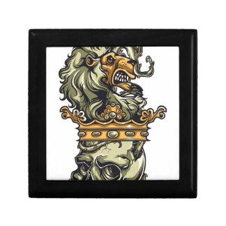 Caja De Regalo león del vintage en el cráneo muerto