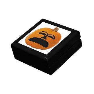 Caja De Regalo Levante la cara infeliz de la linterna del o,