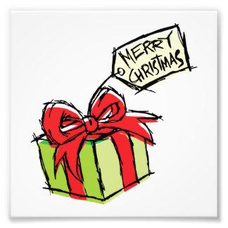 Caja de regalo linda de encargo con la etiqueta de arte con fotos