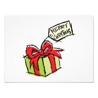 Caja de regalo linda de encargo con la etiqueta de foto