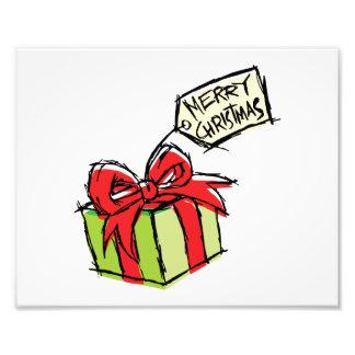 Caja de regalo linda de encargo con la etiqueta de impresión fotográfica