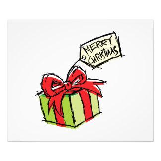 Caja de regalo linda de encargo con la etiqueta de arte fotografico