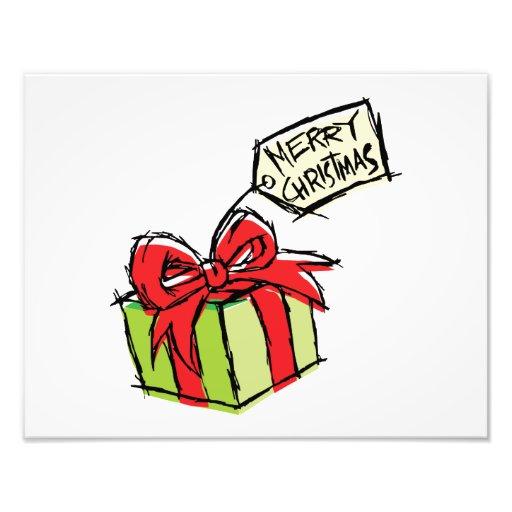 Caja de regalo linda de encargo con la tarjeta de foto