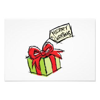 Caja de regalo linda de encargo con la tarjeta de impresiones fotograficas