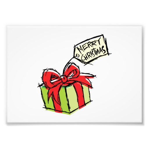 Caja de regalo linda de encargo con la tarjeta de impresion fotografica