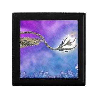 Caja De Regalo lindo cristalino púrpura azul del grypon del grifo