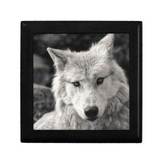 Caja De Regalo Lobo blanco y negro
