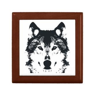 Caja De Regalo Lobo negro del ilustracion
