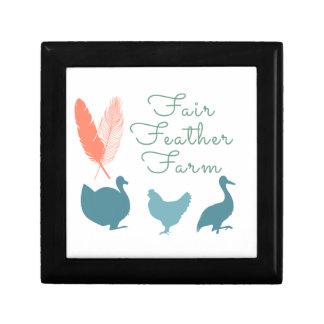 Caja De Regalo Logotipo de la granja de la pluma de