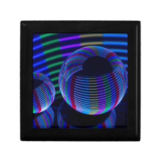 Caja De Regalo Luces espirales en el cristal
