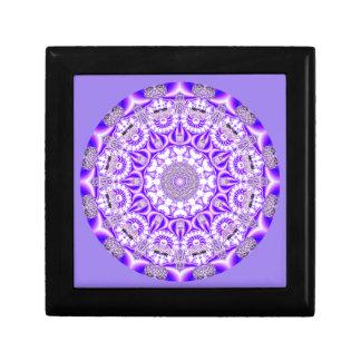 Caja De Regalo Mandala del cordón de mosaico, púrpura violeta