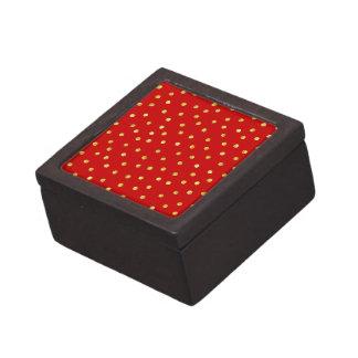 Caja De Regalo Modelo de puntos elegante del confeti de la hoja