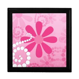 Caja De Regalo Modelo retro lindo de la margarita de las flores