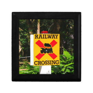 Caja De Regalo Muestra del cruce ferroviario