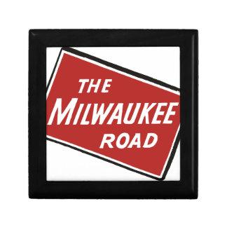 Caja De Regalo Muestra ferroviaria 2 del camino de Milwaukee