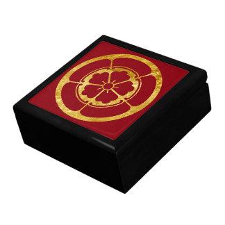 Caja De Regalo Oro del clan japonés del samurai del Oda lunes