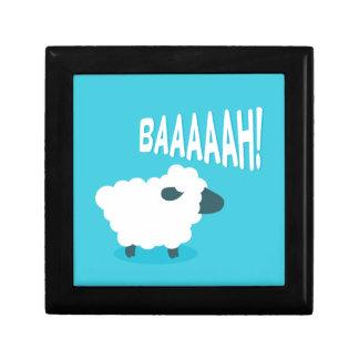 Caja De Regalo Ovejas que balan del dibujo animado azul divertido