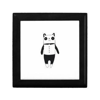 Caja De Regalo Pequeña panda blanco y negro